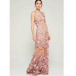 Dress the Population Floral Appliqué Gigi Gown